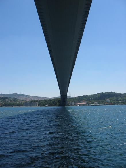 BOSPHORUS BRIDGE,ISTANBUL CONNECTING ASIA AND EUROPE. Picture courtesy of Esra Ozmeral