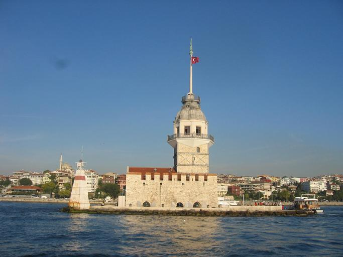 MAIDEN'S TOWER AS SEEN FROM THE BOAT